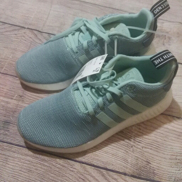 hot sale online 87a85 ba011 NIB Adidas NMD R2 Blue Running Sneakers